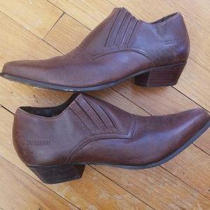 VTG Brown Durango Western Boho Ankle Booties